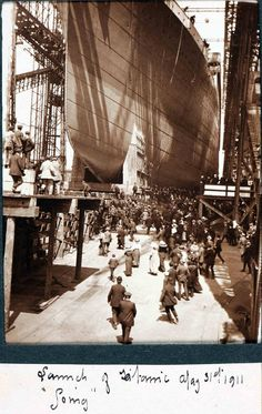 Titanic on her launch day.