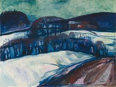 Winter » Munch's Ekely Snow Landscape at Night 1923–26 / Oil on canvas / 67 x 90 cm Staatsgalerie Stuttgart
