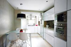 Check out this 3-room flat's stunning white and light wood palette! | Home & Decor Singapore