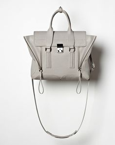 Phillip Lim, Pashli Medium Satchel in Feather, Fashion Handbags, Fashion Shoes, My Other Bag, Suitcase Bag, Designer Clothes For Men, Designer Clothing, Purse Styles, Luxury Shoes, Pump Shoes