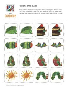 The Very Hungry Caterpillar by Eric Carle - Memory