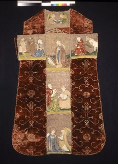 Chasuble Back with an Orphrey Cross - Italian or Spanish & German - second half of the 15th century