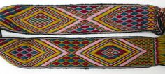 tablet woven band with warp float patterning. Annelies Tijman
