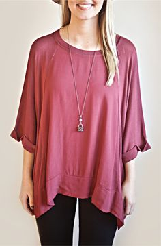 M Made in Italy red blouse