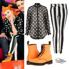 ef89e21bd2a0 Dr. Martens 1460 W Boots in Acid Orange Patent Lamper ($130.00); Topshop's  · Hayley Williams StyleParamore Hayley ...