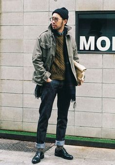 41 Cool Mens Street Style Outfit Ideas to Keep Style This Winter Moda Hipster, Style Hipster, Hipster Fashion, Fall Hipster, Hipster Boys, Stylish Men, Men Casual, Casual Wear, Look Man