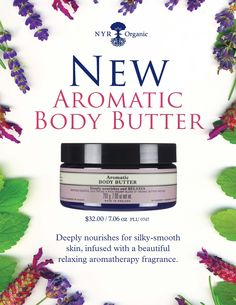 Aormatic Body Butter...Creamy, deeply nourishing butters infused with a soothing blend of aromatic oils... https://us.nyrorganic.com/shop/carrierigsby