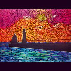 Sun Setting Lighthouse from Windy City Tape @Kenzie Stewart