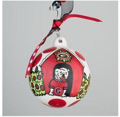 GLORY HAUS Georgia Bulldogs UGA Ornament | underthecarolinamoon.com