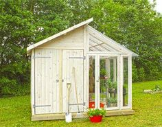 Shed Greenhouse combo