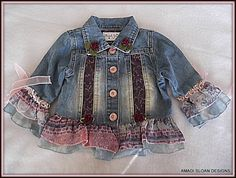 Kid's Clothing Upcycled Children's Shabby by AmadiSloanDesigns, $34.50