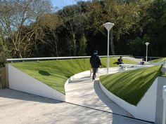 Rotterdam-based MVRDV designed a suite of pedestrian bridges for the city of Leira in central Portugal, including the Picnic Bridge shown here. Click to enlarge & visit the slowottawa.ca boards >> http://www.pinterest.com/slowottawa/
