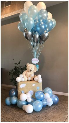 Unique Baby Shower Themes, Cute Baby Shower Gifts, Cute Baby Shower Ideas, Baby Shower Decorations For Boys, Baby Shower Centerpieces, Shower Baby, Diy Shower, Bear Baby Showers, Boy Baby Shower Cakes