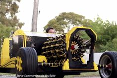 500,000 LEGO bricks, 256 cylinders, and a license to thrill! Take a spin in the world's first fully-functional LEGO car in this wild math problem! Lego Math, Fun Math, Lego People, Cool Lego Creations, Car Makes, Side Door, Lego Pieces, Fun Activities For Kids, Lego Brick