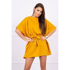 Rochie mini mustar cu cordon in talie Fashion Blogger Style, Fashion Addict, Outfit Of The Day, Street Wear, Calvin Klein, Street Style, Boutique, Stylish, Womens Fashion