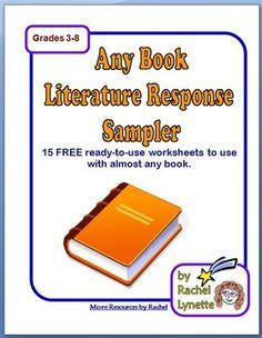 FREE Any Book Literature Response Worksheets