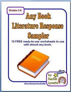 FREE Any Book Literature Response Worksheets
