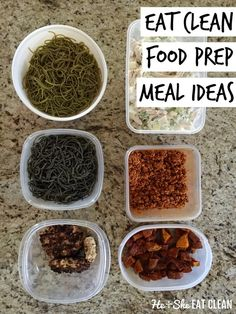 Eat Clean Food Prep Meal Ideas that include PASTA! #beanpasta #sponsored
