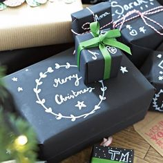 Chalk Board Wrapping Kit. Convert stationery and wrapping in to carefully crafted creations with our Chalkboard Wrapping Kit. Design and personalise your own chalkboard wrapping paper.