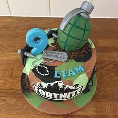 Fortnite Cake Designs – Gâteau - Pubg, Fortnite and Hearthstone 9th Birthday, Birthday Parties, Boy Birthday Cakes, Army Cake, Cake Images, Cakes For Boys, Party Treats, Beautiful Cakes, Cake Designs