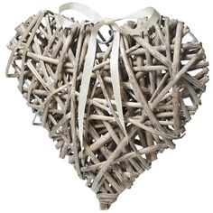 Hobbycraft Natural Wicker Heart Decoration 10 x 10 cm Wedding Home Hanging New Crafts, Creative Crafts, Hobbies And Crafts, Pom Pom Decorations, Heart Decorations, Decorating Your Home, Diy Home Decor, Rustic Chic Decor, Wicker Hearts