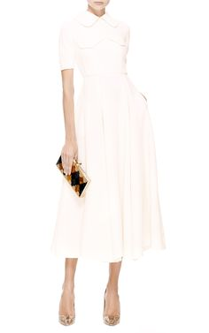 Wool-Crepe Midi Dress by Emilia Wickstead - Moda Operandi
