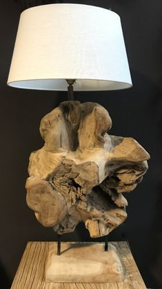 Driftwood Furniture, Driftwood Lamp, Wooden Floor Lamps, Wooden Lamp, Rock Lamp, Lamps For Sale, Small Furniture, Wood Creations, Lampe Led