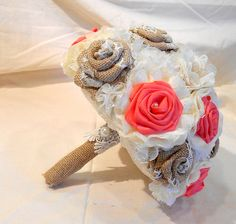 Wedding Bouquet Bridal Bouquet Keepsake Bouquet Fabric