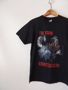 The Cure T-Shirt / Disintegration Tour Tee / 1 Rock T Shirts, Band Shirts, Vintage Shirts, Vintage Outfits, The Cure Band, Concert Tees, Cool Tees, Love Songs, Vintage Ladies