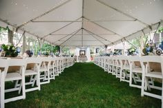 Real Weddings: Monique and Wilbert's Connecticut Wedding Their lovely backyard tent reception