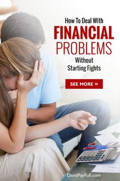 Interested in How To Deal With Financial Problems Without Starting Fights? Well, we have the answer! First of all, learn to budget and then learn to talk. #DontPayFull