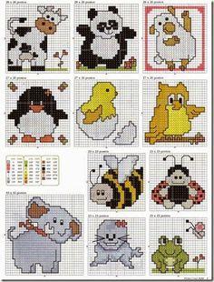 ponto+cruz+cross+stitch+animais+pequenos_thumb.jpg (368×484)