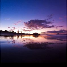 Mount Maunganui sunset The Beautiful Country, Beautiful Places In The World, Most Beautiful, Mount Maunganui, New Zealand, Places Ive Been, Spaces, Sunset, Nature