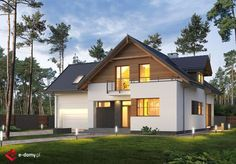 E-198 - E-DOMY.pl Projekty domów jednorodzinnych, piętrowych, energooszczędnych.