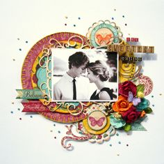 The Sweetest Thing ~ Bo Bunny Ambrosia - Scrapbook.com ....Wendy Schultz onto Scrapbook Layout's.