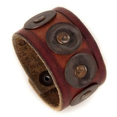 Distressed Leather Cuff Upcycled Recycled Jewelry $65 http://www.rainwheel.etsy.com
