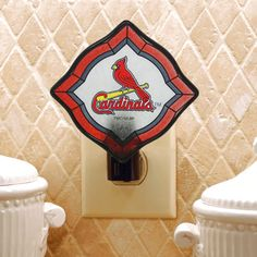 St. Louis Cardinals Vintage Art Glass Nightlight - $13.59