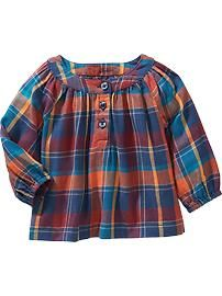 Plaid Tops for Baby