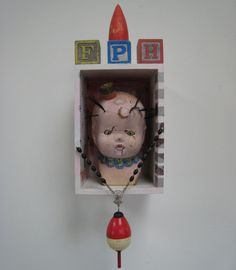 MeatCircus BabyHead Assemblage  by *bugatha1  Traditional Art / Assemblage