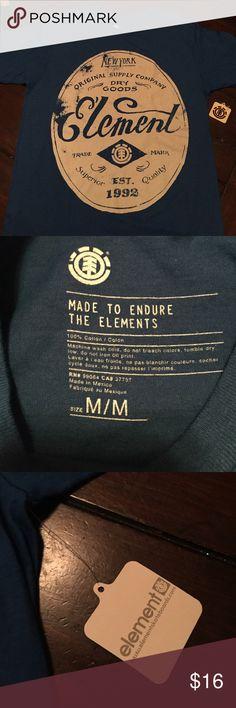 MENS Element Medium Tee Royal blue NEW TEE Tops