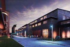 """Die Grand Hall wird die neue """"One Stop Location"""" in der grandiosen Atmosphäre des UNESCO-Welterbes Zollverein in Essen. Durch die Sanierung der ehemaligen Sauger- & Kompressorenhalle lassen wir ein Angebot von 5.000 qm Veranstaltungsflächen und somit  Events bis zu 2.500 Personen entstehen."""