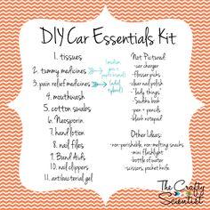 The Crafty Scientist Diy Car Essentials Box Hacks