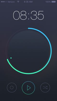 30 Fresh Examples of Mobile Apps with Circular Vibe - 2