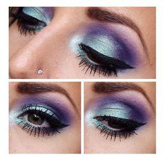 Blue and purple eyeshadow makeup