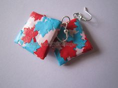 Handmade Jewelry - Paper Punch Patchwork Earrings (1) by fah2305, via Flickr