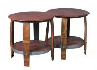 These unique coffee tables are made from recycled wine barrels. These would complement any casual appeal and yet sophisticated for any decor.
