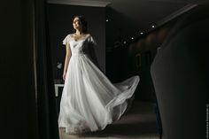 """Купить Свадебное платье """"Воздушное"""" - бежевый, айвори, свадебное платье, свадебное платье на заказ"""