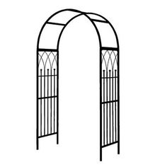 Visit The Home Depot to buy Rainbow Garden Products Westminster Arch Iron Pergola, Garage Pergola, Pergola Swing, Metal Pergola, Cheap Pergola, Wooden Pergola, Backyard Pergola, Pergola Shade, Pergola Plans