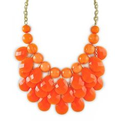 Cluster Statement Necklace ❤ liked on Polyvore