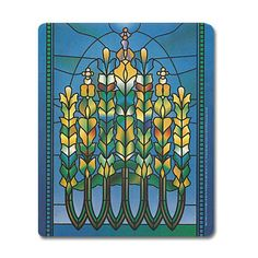 Mouse pad adapted from Lily Window, c. 1900, First Presbyterian Church, Hoboken, New Jersey, by Louis Comfort Tiffany.